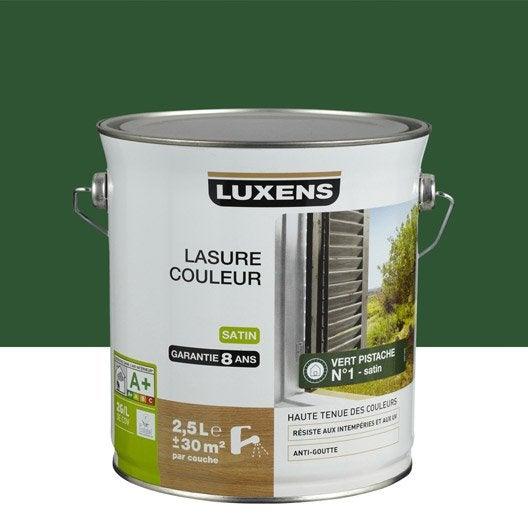 lasure luxens 2 5 l vert pistache leroy merlin. Black Bedroom Furniture Sets. Home Design Ideas