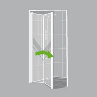 Comment choisir sa porte et sa paroi de douche leroy - Cabine de douche porte pivotante ...