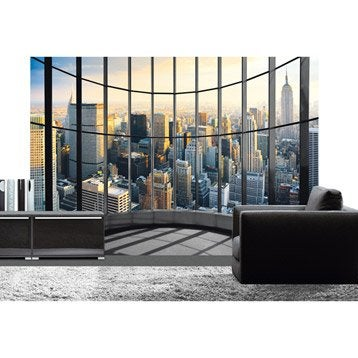 poster xxl de mur office view 366x254 cm. Black Bedroom Furniture Sets. Home Design Ideas