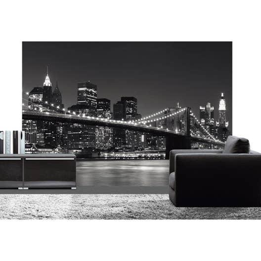 Poster xxl de mur new york skyline deco wall x - Cadre lumineux new york ...
