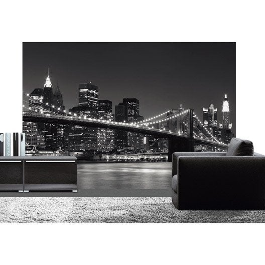 poster xxl de mur new york skyline 366 x 254 cm leroy merlin. Black Bedroom Furniture Sets. Home Design Ideas