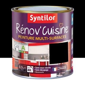 Peinture pour meuble cuisine et bain peinture cuisine et for Peinture cuisine noir mat