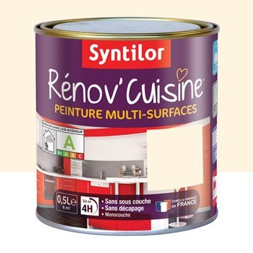 Peinture Rénov'cuisine SYNTILOR, Jaune vanille, 0.5 l