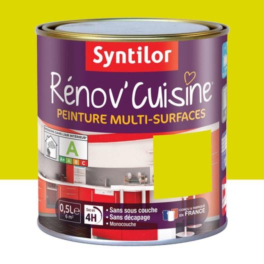 Peinture r nov 39 cuisine syntilor vert pom 39 pomme 0 5 l for Syntilor renov cuisine