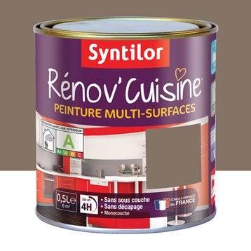 Peinture Rénov'cuisine SYNTILOR, Brun chocolait, 0.5 l