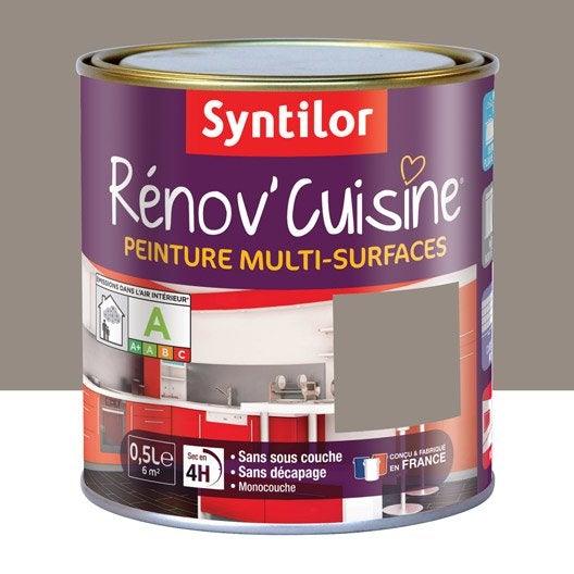 Peinture r nov 39 cuisine syntilor brun macaron 0 5 l for Peinture cuisine v