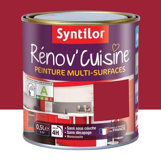 Peinture pour meuble cuisine et bain peinture cuisine et for Cuisine peinture rouge