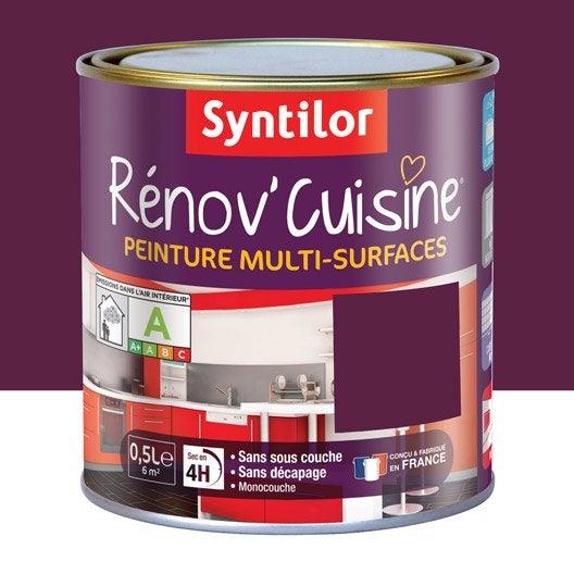 peinture r nov 39 cuisine syntilor violet aubergine 0 5 l leroy merlin. Black Bedroom Furniture Sets. Home Design Ideas