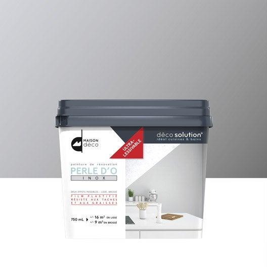 peinture perle d 39 o maison deco gris inox leroy merlin. Black Bedroom Furniture Sets. Home Design Ideas