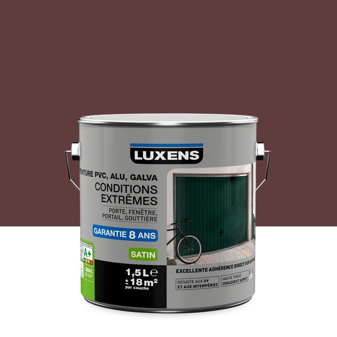 Peinture PVC/alu/galva Extérieur Conditions Extrêmes LUXENS, Rouge Basque,  ...