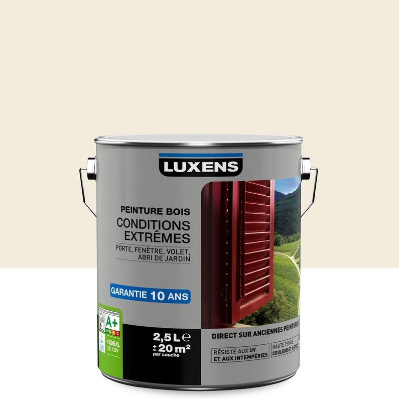 Peinture Bois Extérieur Conditions Extrêmes Luxens Blanc Lin N 3 2 5 L