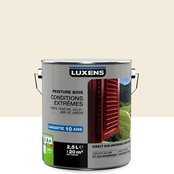 Peinture bois extérieur Conditions extrêmes LUXENS, blanc lin n°3, 2.5 l
