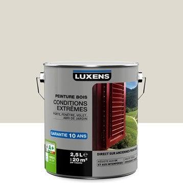 Peinture bois extérieur Conditions extrêmes LUXENS, blanc ivoire n°1, 2.5 l