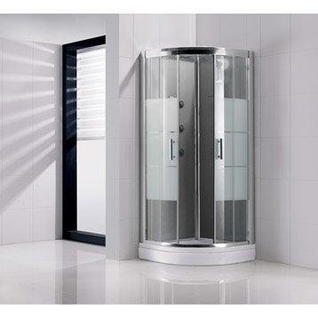Cabine de douche 1/4 de cercle 90x90 cm, Optima2 grise