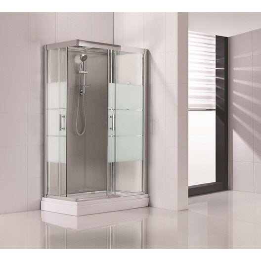 cabine de douche rectangulaire 120x80 cm optima2 grise leroy merlin. Black Bedroom Furniture Sets. Home Design Ideas