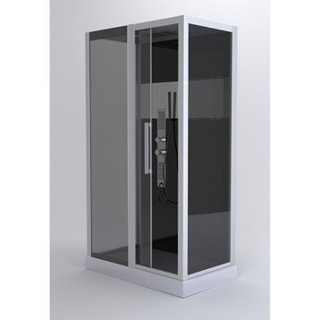 cabine de douche trendy hydromassante mitigeur rectangulaire 115x90 cm. Black Bedroom Furniture Sets. Home Design Ideas