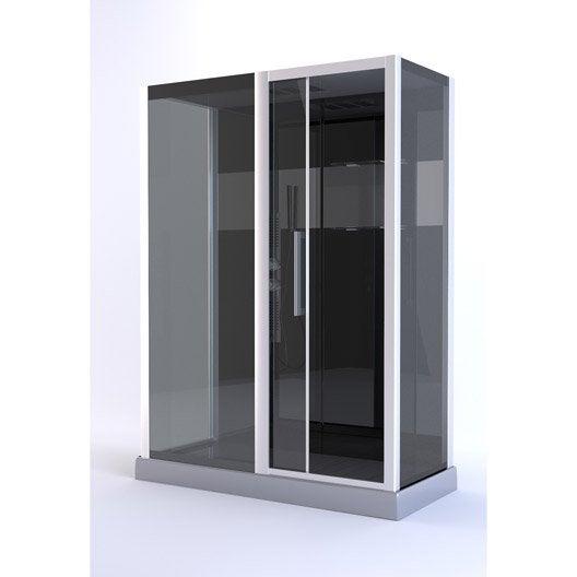 cabine de douche rectangulaire l.150 x l.75 cm, trendy | leroy merlin