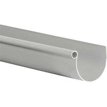 Gouttière demi-ronde PVC GIRPI dév.25 cm grise L.2 m
