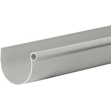 Gouttière demi-ronde PVC GIRPI dév.16 cm grise L.2 m