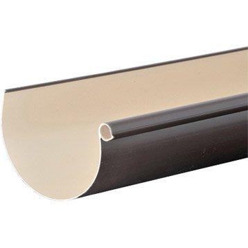 Gouttière demi-ronde PVC GIRPI dév.25 cm marron L.4 m