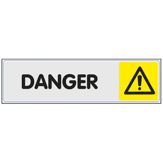 plaque plexiglass danger en plastique leroy merlin. Black Bedroom Furniture Sets. Home Design Ideas