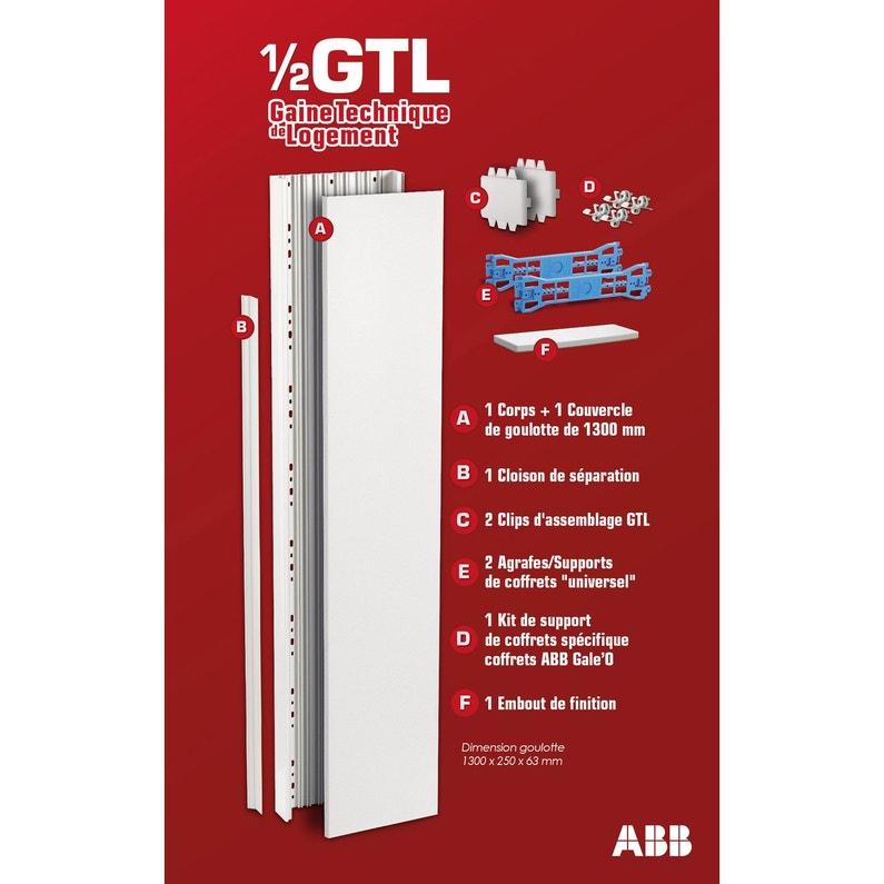 Gaine Technique De Logement Gtl Abb H130 X L25 X P63 Cm