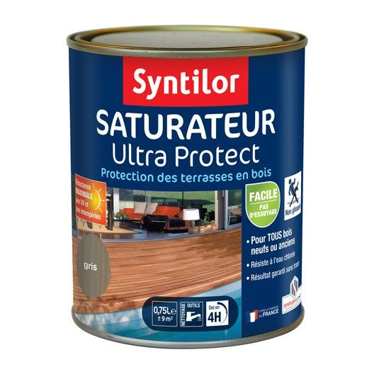 saturateur pour bois ultra protect syntilor gris 750 ml leroy merlin. Black Bedroom Furniture Sets. Home Design Ideas