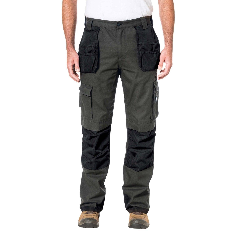 pantalon de travail caterpillar trademark slim gris noir taille 44 46 leroy merlin. Black Bedroom Furniture Sets. Home Design Ideas