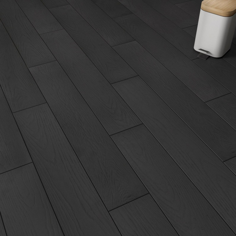 Carrelage sol intenso bois noir Colorata l.15 x L.90 cm GRAND DESIR ...