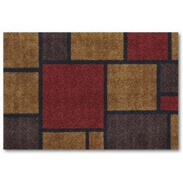 Tapis de cuisine doormat square rouge 60 x 40cm for Tapis de cuisine 60 x 120