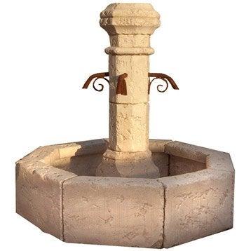 Fontaine en pierre reconstituée pierre vieillie Village