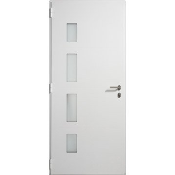 Porte d'entrée aluminium Austin ARTENS poussant gauche, H.215 x l.80 cm
