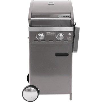 Barbecue au gaz NATERIAL Florida 2 brûleurs gris 2 brûleurs, gris