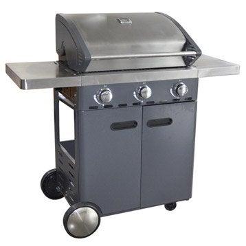 Barbecue au gaz naterial florida 3 bruleurs offre sp ciale plancha offerte - Barbecue weber gaz leroy merlin ...