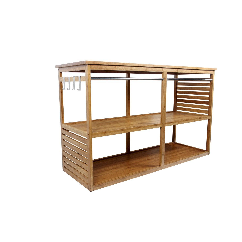 meuble sous vasque l140 x h85 x p50 cm natural - Meuble Sous Vasque 140 Cm