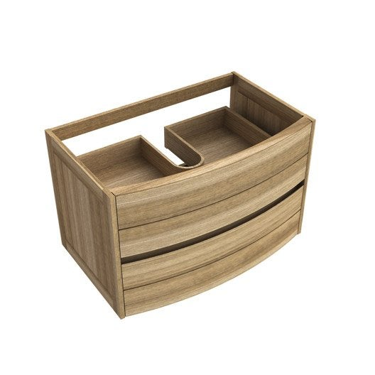 meuble sous vasque fairway bois 2 tiroirs leroy merlin. Black Bedroom Furniture Sets. Home Design Ideas