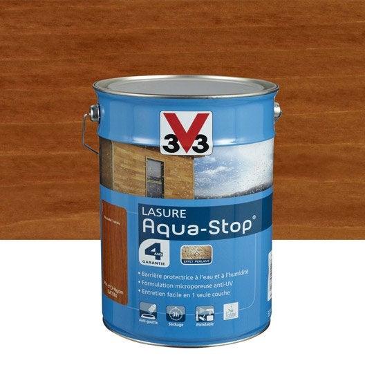 Lasure aquastop v33 pin oregon aspect satin 5 l leroy merlin - Peinture aquastop v33 ...