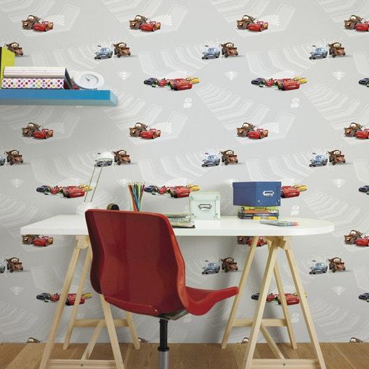 papier peint papier disney cars gris leroy merlin. Black Bedroom Furniture Sets. Home Design Ideas