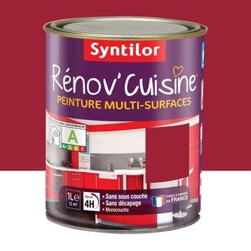 Peinture Rénov'cuisine SYNTILOR, Rouge gaspacho, 1 l