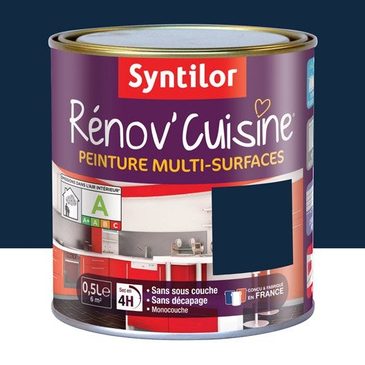 Peinture r nov 39 cuisine syntilor violet myrtille 0 5 l leroy merlin - Peinture renov cuisine ...
