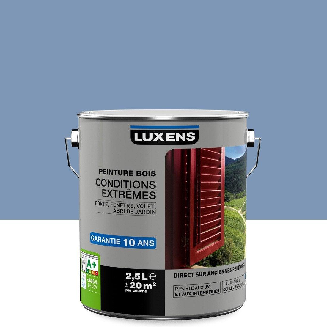 Peinture Bois Extérieur Conditions Extrêmes Luxens Bleu Provence 25 L