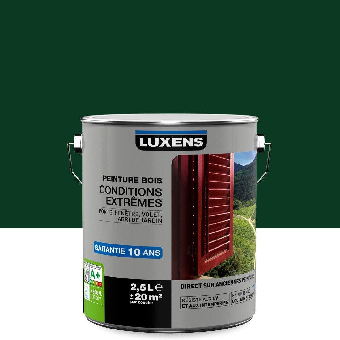 Peinture Bois Extérieur Conditions Extrêmes Luxens Vert Sapin 25