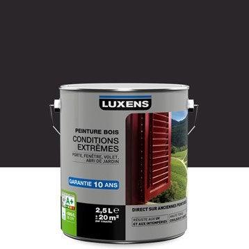 Peinture bois extérieur Conditions extrêmes LUXENS, brun ébène, 2.5 l