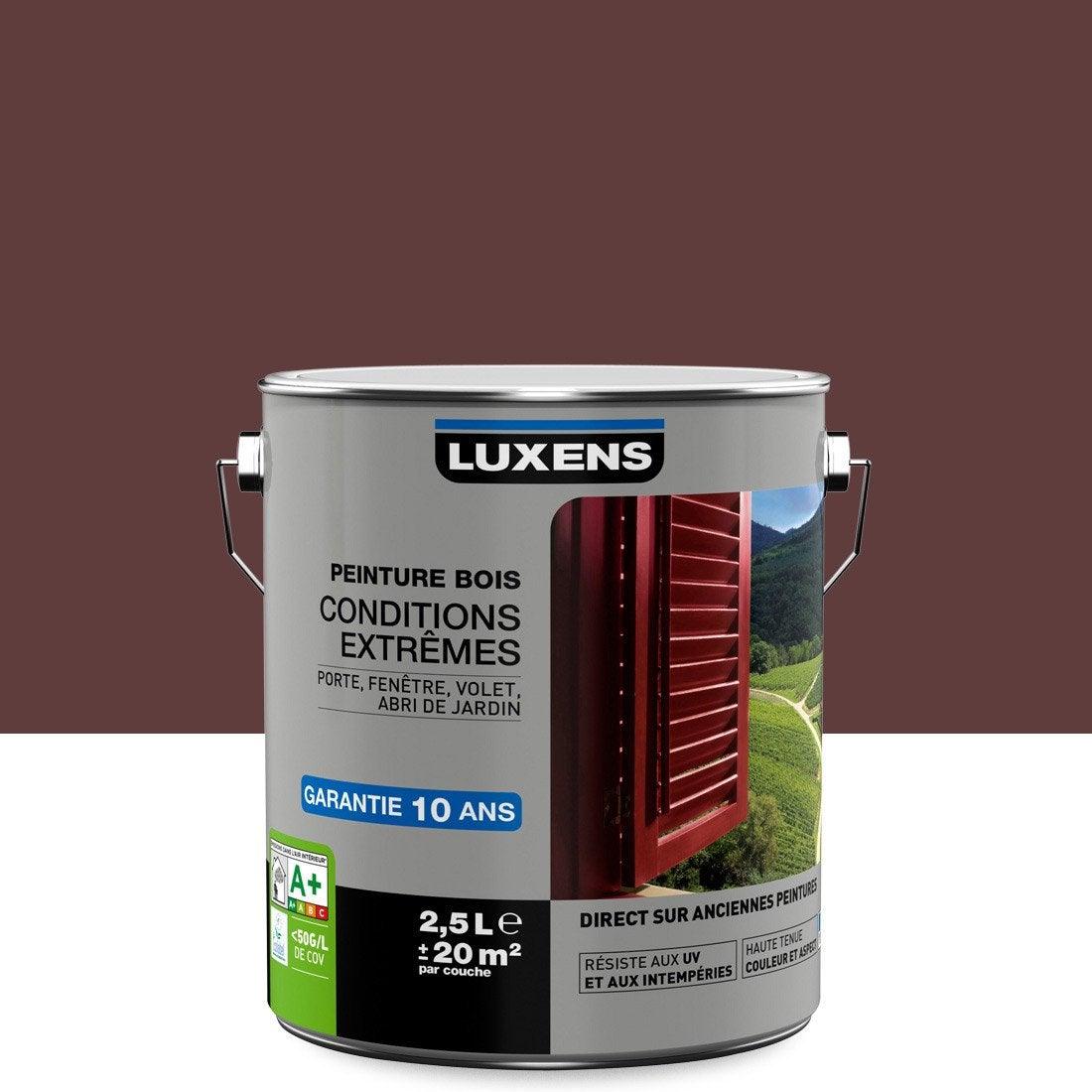 Superieur Peinture Bois Extérieur Conditions Extrêmes LUXENS, Rouge Basque, 2.5 L Bonnes Idees