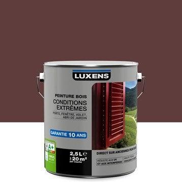 Peinture bois extérieur Conditions extrêmes LUXENS, rouge basque, 2.5 l