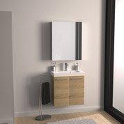 Pose de meuble de salle de bains pré-monté, largeur max 90 cm par Leroy Merlin