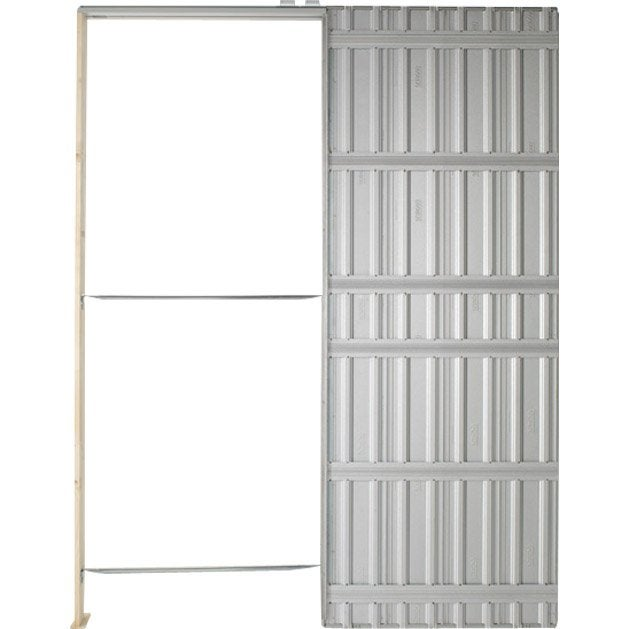 Système Galandage Chassis Plein SCRIGNO Pour Porte De Largeur Cm - Pose porte coulissante a galandage