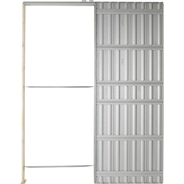 Syst me galandage chassis plein scrigno pour porte de - Systeme coulissant pour pose applique porte ...