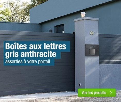 Boite aux lettres profil ferronnerie quincaillerie s curit leroy merlin - Boite aux lettres 2 portes gris anthracite ...