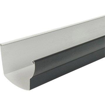 Gouttière profil ovoïde PVC GIRPI dév.25 cm ardoise L.4 m